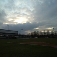 Photo taken at Stadio Atletica Pordenone by Rodion Romanovič R. on 1/20/2014