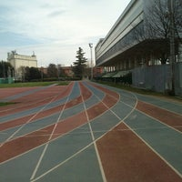Photo taken at Stadio Atletica Pordenone by Rodion Romanovič R. on 3/5/2014