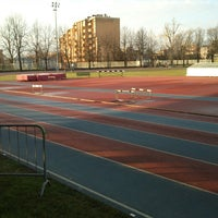 Photo taken at Stadio Atletica Pordenone by Rodion Romanovič R. on 1/15/2014