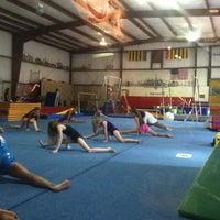 Photo taken at Midcoast gymnastics by Yanira R. on 5/11/2013
