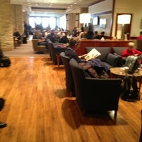 Photo taken at Delta Sky Club by Arie W. on 2/8/2013