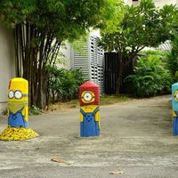 Photo taken at Ernest wall art - Minions by Siang Hwee F. on 6/14/2014