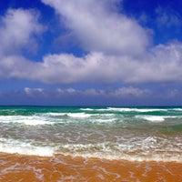 Photo taken at Leonardo Beach by Sergey V. on 5/28/2013