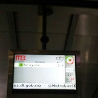 Photo taken at Metrobus Estacion Heroe de Nacozari by ari c. on 9/24/2014