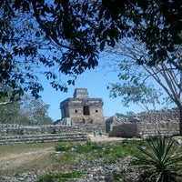 Photo taken at Zona Arqueológica de Dzibilchaltún by Abi P. on 3/7/2013