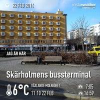 Photo taken at Skärholmens bussterminal by Karolina S. on 2/22/2014