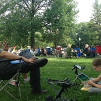 Photo taken at Bronson Park by Jennifer R. on 7/7/2013