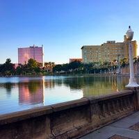 Photo taken at Lake Mirror by Grace C. on 10/11/2013
