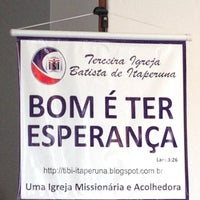 Photo taken at Terceira Igreja Batista de Itaperuna by Rubem N. on 3/29/2013