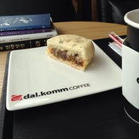 Photo taken at dal.komm coffee by michael (한뜻) J. on 4/15/2014