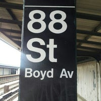 Photo taken at MTA Subway - 88th St/Boyd Ave (A) by Mark N. on 5/6/2013