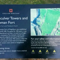 Photo taken at Reculver Towers and Roman Fort by Daniel T. on 4/15/2017