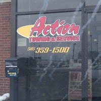Photo taken at Action Rochester Automotive Service And Towing by Harry L. on 3/6/2013