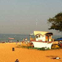 Photo taken at Candolim Beach by Ashish P. on 10/26/2012