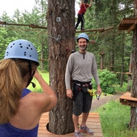Photo taken at Tree to Tree Adventure Park by Gene E. on 6/14/2014