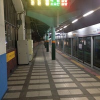 Photo taken at Sinimun Stn. by Jeongsoo A. on 12/31/2013