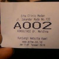 Photo taken at Erha Clinic Medan by Ricki P. on 10/29/2014