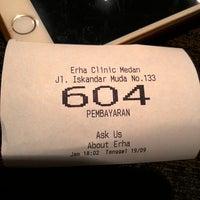 Photo taken at Erha Clinic Medan by Ricki P. on 9/19/2014