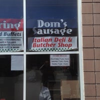 Photo taken at Dom's Sausage Co Inc. by Bobby W. on 4/6/2013
