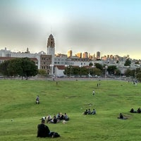 Photo taken at Mission Dolores Park by Justin H. on 6/27/2013