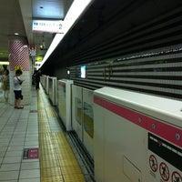 Photo taken at Kitashinchi Station by Kurodora B. on 6/9/2013