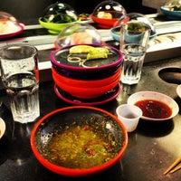 Photo taken at YO! Sushi by Pete A. on 3/1/2013