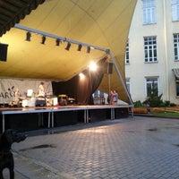 Photo taken at Vasaros Terasa - Vilniaus mokytojų namų kiemelis by strikpastrik on 5/27/2013