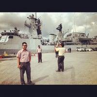 Photo taken at PANGKALAN ARMADA TLDM LUMUT by Ib I. on 12/21/2012
