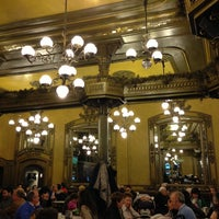 Photo taken at Café Iruña by Federico G. on 3/30/2013