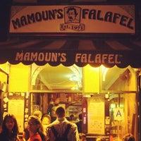 Photo taken at Mamoun's Falafel by Keong S. on 10/6/2012
