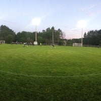 Photo taken at Soccer Morin-Heights by Dominic B. on 8/30/2016