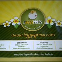 Photo taken at L'Eggspress by Dominic B. on 9/16/2012