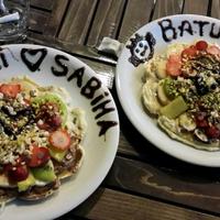 Photo taken at Atomik Waffle & Coffee by Sabiha B. on 10/29/2013