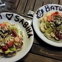 Photo taken at Atomik Waffle & Coffee by Sabiha B. on 10/28/2013