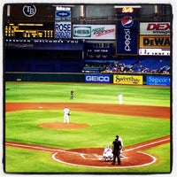 Photo taken at Tropicana Field by Nick on 4/4/2013