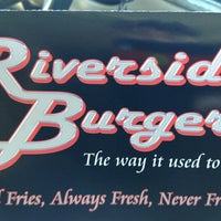 Photo taken at Riverside Burgers by Bradley on 6/7/2013