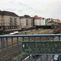 Photo taken at Kaiserdammbrücke by Zia C. on 9/1/2017