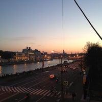 Photo taken at Bolshoy Ustyinsky Bridge by Svetlana S. on 5/9/2013