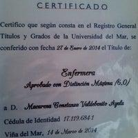 Photo taken at Universidad Del Mar by Macarena C. on 3/17/2014