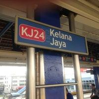 Photo taken at RapidKL Kelana Jaya (KJ24) LRT Station by Hakim K. on 3/30/2013