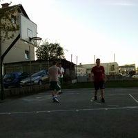 Photo taken at Bršljin basketball court by Rok Z. on 4/24/2013