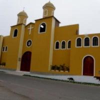 Photo taken at Parroquia Santa Rosa J.C.T by Lucía Isabel R. on 4/19/2014