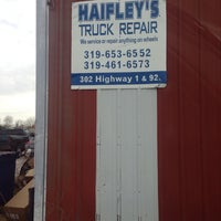 Photo taken at Haifley's Truck Repair by Jeffrey M. on 11/8/2013