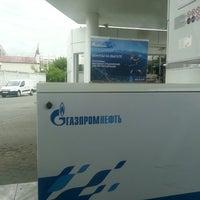Photo taken at Газпромнефть АЗС № 273 by Ket on 6/3/2014