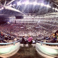 Photo taken at Friends Arena by Pelle N. on 5/11/2013