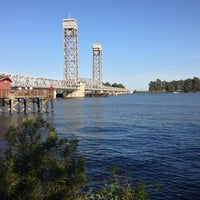 Photo taken at Rio Vista Bridge by Ms. J.D. Ramos on 4/12/2013