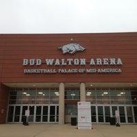 Photo taken at Bud Walton Arena by Jinnings B. on 3/23/2013