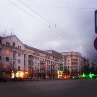 Photo taken at Остановка «Публичная библиотека» by Apricot947 on 4/14/2013