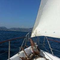 Photo taken at Aegean Sea by Özlem S. on 8/22/2013