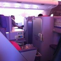 Photo taken at Thai Airways Flight TG 676 BKK-NRT by Chase H. on 8/6/2013